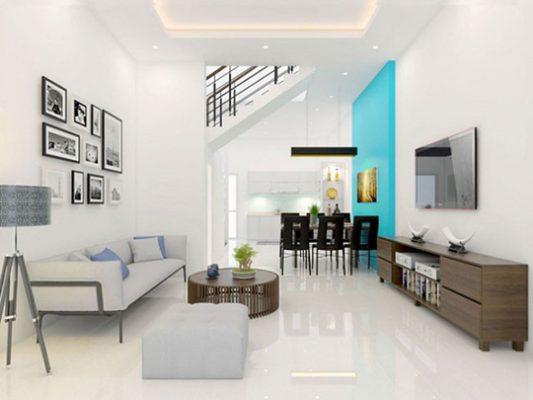 Nội thất nhà phố hiện đại đơn giản