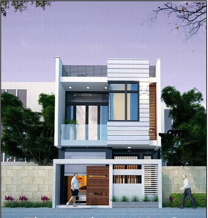 Thiết kế nhà 2 tầng đẹp phong cách